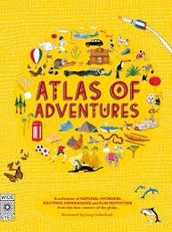 Atlas of Adventures.  £20.00.  Set off on a journey of discoveries with this beautiful book, an Atlas of adventures! This book offers more than 100 activities and challenges to set off any armchair adventurer! Spot the two adventurers and learn new facts from the four corners of the globe. This gorgeous book celebrate the diversity of our planet. A beautiful gift!