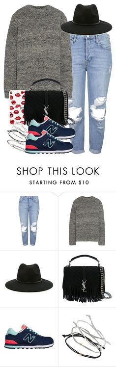 """""""Sin título #3679"""" by hellomissapple on Polyvore featuring moda, Topshop, The Row, Sonix, Forever 21, Yves Saint Laurent, New Balance y Jules Smith"""