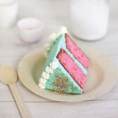 Amazing Aqua and Pink cake from sprinkle bakes.  Reminds me of Jenny Holiday!