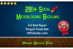 skyROCKET your website ranking with 201+ social microblogging backlinks for $5