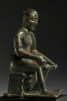 Etruscan or italic bronze craftsman possibly depicting the god Sethlans (Vulcan/Hephaestos)