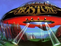 The rock band BOSTON - Those of us that remember them from the 70's & 80's will recognize this album cover.  I went to one of their concerts.  It's funny looking at their pictures because one of the band members has an afro.  lol