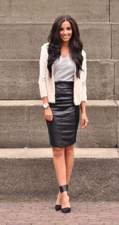 c6436ed3ddbe38 How To Wear  Pencil Skirts. Luipaardprint SchoenenMode OutfitsPotlood Rok  ...