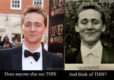 Tom Hiddleston then & now