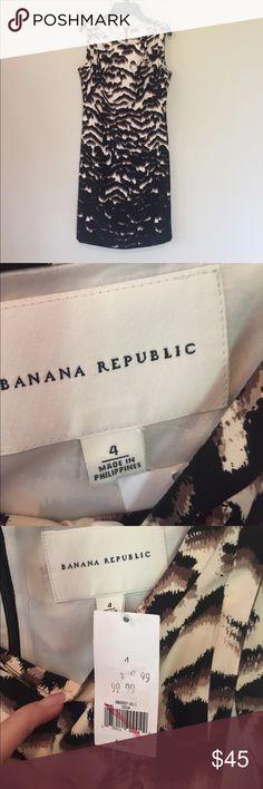 Banana Republic leopard dress. Brand new size 4 Brand new Banana Republic leopard print dress beautiful nwt size 4 Banana Republic Dresses
