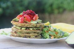 7-Ingredient healthy Zucchini, Herb & Chickpea Fritters #healthy #vegan #vegetables #fritters #recipe #dairyfree #sugarfree #glutenfree #begoodorganics