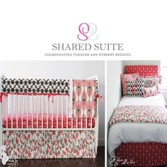 Toddler And Coordinated Crib Bedding Sibling Shared Suite Collection