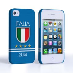 Caseflex iPhone 4 / 4S Italia World Cup Case | Mobile Madhouse #Gift #Present #AppleiPhone4 #Apple #iPhone4 #iPhone #Case #Cover #HardCase #PhoneCover #WorldCup2014 #Brazil2014 #Flags #Football #Badge #Shirt #Italian #Italy #Stars