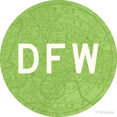 DFW Dallas-Fort Worth Airport Code Roundel