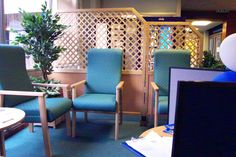 These screens are ideal for nursing homes & waiting areas. Solid lowers can be any colour from our standard range. Castors can be fitted to aid movement. Timber Screens, Nursing Homes, Waiting Area, Bespoke Design, Trellis, Layout, Range, Flooring, Colour