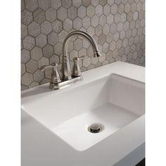 Delta Porter 4 in. Centerset 2-Handle Bathroom Faucet in Brushed Nickel  Master Bathroom