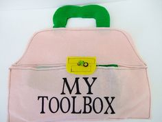 Felt Toolbox with felt tools, Toddler Pretend toy, Baby Girl Toy. Why can t boys have this exactly?