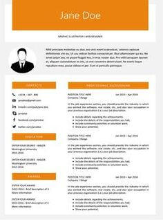 Light Blue Minimal Resume Template  Microsoft Word Creative