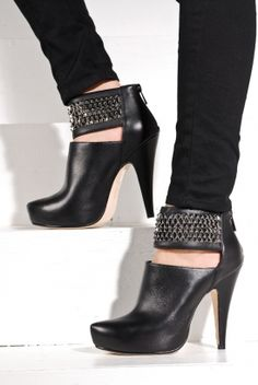 Love these high heel stud boots