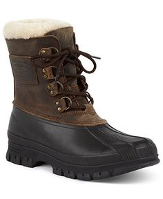 Polo Ralph Lauren Boots, Landen Shearling Lined Waterproof Boots - Mens Shoes - Macy's