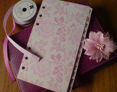 FILOFAX PERSONAL compatible MONTHLY DIVIDERS Jan-Dec ORGANISER Pink Rose #93