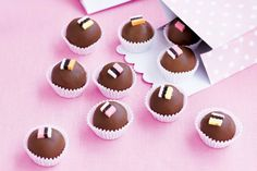 These tempting chocolate and licorice truffles make great gifts for the festive season.