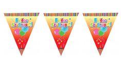 Színes boldog szülinapot zászlófüzér 6 m, Nicol Party Kellék Bolt Playing Cards, Playing Card