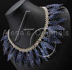 SPELLBOUND Necklace. Seed Bead Collar Woven by AlenasOriginals