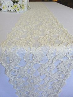 Ivory lace table runner wedding lace runner by DaniellesCorner, $8.00