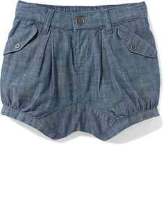Chambray Bubble Shorts for Baby