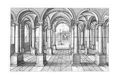 Architecture Antique, Architecture Concept Drawings, Renaissance Architecture, Classical Architecture, Art And Architecture, Architecture Details, Perspective Photography, Perspective Drawing, One Point Perspective