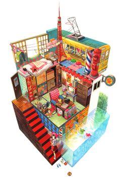 거주공간, 건축물 모듈 설명시 좋은 표현인거같다
