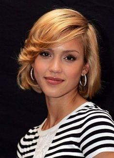 Jessica Alba Short Bob Hair Style Short Hair Styles Hairstyle