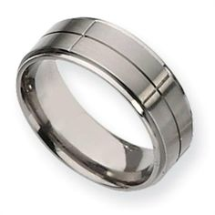 Titanium Grooved 8mm Satin and Polished Comfort Fit Wedding Band (Size 6-13) Vishal Jewelry. $66.00. Metal: Titanium. Availability: 1 to 2 Business Days. Fit: Comfort Fit. Gender: Male / Female