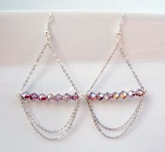 DIY Earrings with Chain And Bicone Beads