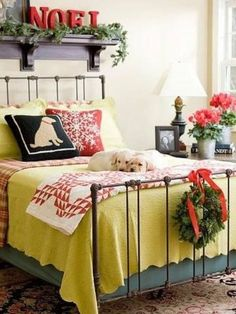 32 Adorable Christmas Bedroom Décor Ideas | DigsDigs