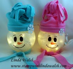 Lighted Snowman - Stamp With Linda Walsh