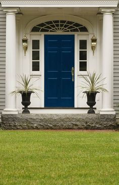 """Like a uniform or a great business suit, this colour commands respect. A door colour that says """"sophisticated success"""". #BeautiTone Colour: SC007 French Navy Blue"""
