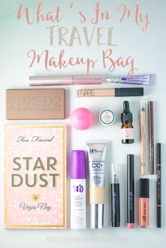 What's In My Travel Makeup Bag - simple makeup items that are perfect for on the go!