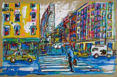 """W Broadway/Chambers st. - NYC"" (46x70 cm.) - Francesc Palomas"