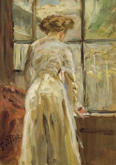 Woman at the Window Fritz von Uhde -