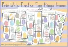 Free printables for every occasion, plus party ideas, crafts for kids, and more! Easter Bingo, Easter Games, Easter Activities, Preschool Ideas, Easter Candy, Easter Eggs, Easter Printables, Free Printables, Printable Bingo Games
