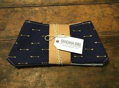 Bandana Bibs set in Metalic Arrows by SundayGiraffe on Etsy https://www.etsy.com/listing/254145746/bandana-bibs-set-in-metalic-arrows