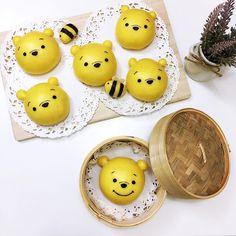 Winnie the Pooh steamed buns by Angel (@tmyin11)