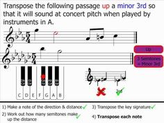 Music Theory - Transposition: Part 2 - 10 minute video on Youtube