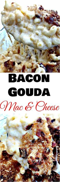 bacon gouda mac and cheese, macaroni and cheese recipe, quick and  easy recipe