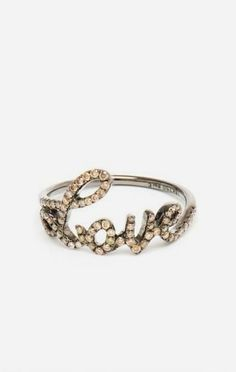 Love 18k Oxidised Gold and Diamond Ring