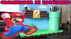 Organizador de Escritorio de Cartón  Super Mario Bros - Dcrafting