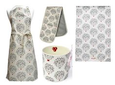 A selection of Marion Adie 'Bubbly Belle' kitchen accessories can make a useful and stylish wedding present