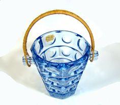 Rudolf Jurnikl Rosice Glasswork Eiskübel SKLO UNION Czech blue glass ice bucket Czech Glass, Czech Republic, Best Deals, Blue, Beauty, Beauty Illustration, Bohemia