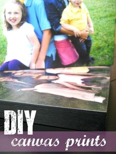 Diy canvas prints- I just did this...the only change I would suggest is precut your picture to the size/shape of your canvas first...makes it so much easier!