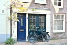 Amsterdam - lovely houses www.aruralchiclifestyle.com Amsterdam Travel, Trips, Garage Doors, Houses, Outdoor Decor, Home Decor, Viajes, Homes, Decoration Home