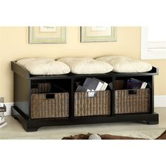 "Furniture of America CM-BN6303 Onex Storage Bench, $50"". $270"