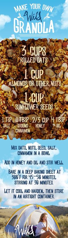 Take this homemade granola with you on your own Wild journey. Watch it on Digital HD! Breakfast Recipes, Snack Recipes, Cooking Recipes, Healthy Recipes, Trail Mix Recipes, Healthy Treats, Healthy Eating, Snacks Saludables, 500 Calories