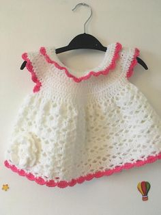 Crochet baby girl dress Girls Dresses, Summer Dresses, Crochet Baby, Trending Outfits, Unique, Handmade Gifts, Etsy, Clothes, Vintage